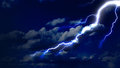 Lightning strike in the sky Royalty Free Stock Photo