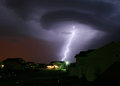 Lightning Strikes House Royalty Free Stock Photo