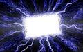 Lightning Text Box Royalty Free Stock Photo