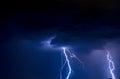 Lightnings Royalty Free Stock Photo