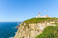 Lightouse in Cabo da Roca, Portugal Stock Images