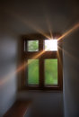 Lightrays through window spiritality concept Royalty Free Stock Image