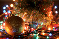 Lights ball color electric on christmas Royalty Free Stock Photography