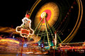 Lights at carnival at night Royalty Free Stock Photography