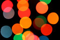 Lights color blurred electric on black background Royalty Free Stock Photo