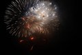 Lights fireworks in the night sky christmas celebratory Stock Photography