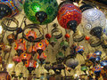 Lights group of colorful lamps on grand bazaar in istanbul Stock Photography