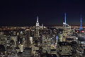 The lights of the NYC. Royalty Free Stock Photo