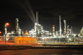 Oil refinery in night Royalty Free Stock Photo