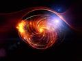 Lights of Turbulence Stock Photo