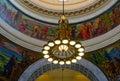 The lights in Utah State Capitol rotunda Royalty Free Stock Photo