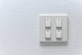Lightswitch on the wall Royalty Free Stock Photo
