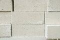 Lightweight brick autoclaved aerated concrete block foamed concrete Stock Photo