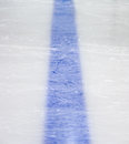 Ligne bleue d'hockey Images stock