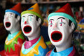 Ligne des clowns de carnaval Photos stock