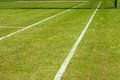 Lignes de court de tennis Photos stock