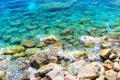 Ligurian cerulean water background Stock Image
