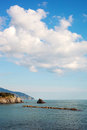 Ligurian sea italy coast of mediterranean Stock Photo