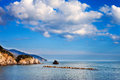 Ligurian sea italy meediterranean coast in liguria Royalty Free Stock Photo