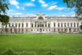 Liiechtenstein Museum with beautiful park Royalty Free Stock Photo