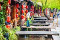 Lijiang dayan old town scene taken in the of yunnan china the be listed at the world heritage site in Stock Photos