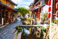 Lijiang dayan old town scene taken in the of yunnan china the be listed at the world heritage site in Stock Photography