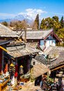 Lijiang old town streets dayan the be listed at the world heritage site in in the you can see jade dragon snow mountain Stock Photography