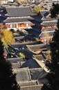 Lijiang old town roofs and Mu House. Yunnan, China Royalty Free Stock Photo