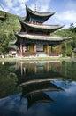 Lijiang schwarzes Drachepool Stockfotografie