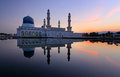 Likas floating mosque at sabah borneo malaysia reflection of Stock Photo