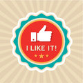 Like badge in vector format Stock Photography