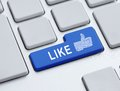 Like button Royalty Free Stock Photography