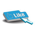 Like button Royalty Free Stock Images