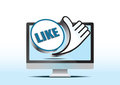 Like button and lcd screen Royalty Free Stock Photos