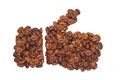 Like from coffee beans isolated on white background Stock Image