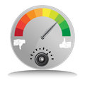 Like dislike meter an image of a and Royalty Free Stock Photo