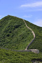 Like the edge of the great wall great wall temple in hong kong eastphoto tukuchina Stock Image
