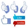 Like facebook symbol Royalty Free Stock Photo