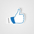 Like hand for social network media Royalty Free Stock Photos