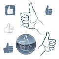 Like icons set a of and symbols of hand gestures Royalty Free Stock Image