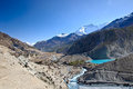 Like near Manang  in Nepal Royalty Free Stock Photography