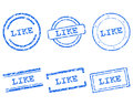 Like stamps detailed and accurate illustration of Royalty Free Stock Photo