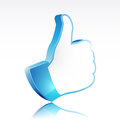 Like symbol d hand illustration for social network media Royalty Free Stock Photography