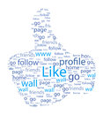 Like thumb facebook up sign illustration Stock Image