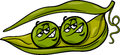 Like two peas in a pod cartoon Royalty Free Stock Photo