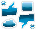 Like and unlike icons illustration on white background Stock Image