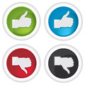 Like and unlike icons on white background Royalty Free Stock Image