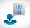 Like us avatar sign concept illustration design over white Royalty Free Stock Image
