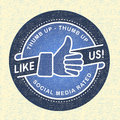Like us Icon, Illustration icon social networks Stock Photography