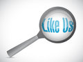 Like us search sign concept illustration design over white Royalty Free Stock Image